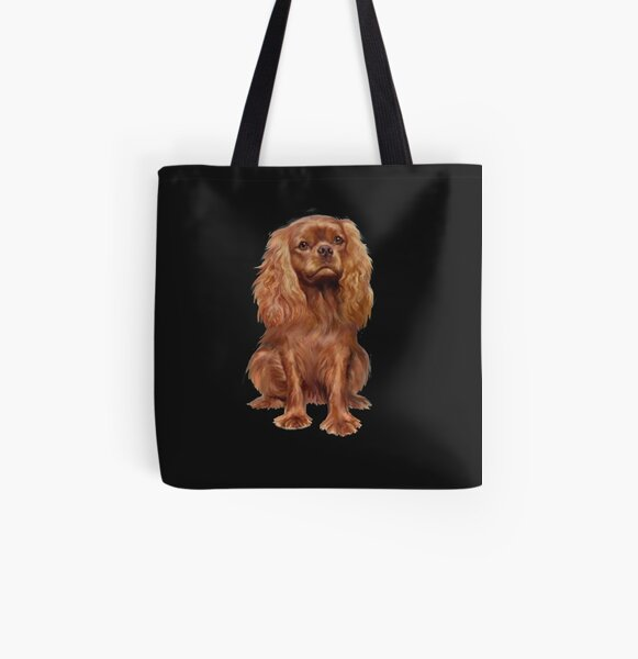 Cavalier King Charles Spaniel - Ruby  All Over Print Tote Bag