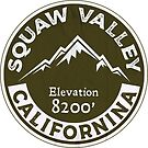 SQUAW VALLEY CALIFORNIA Skiing Ski by MyHandmadeSigns
