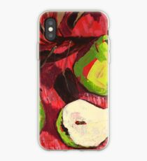 Large Green Pears on Red iPhone Case