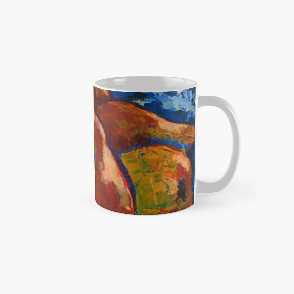 Red Pears in Blue Bowl Mug