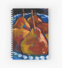 Red Pears in Blue Bowl Spiral Notebook