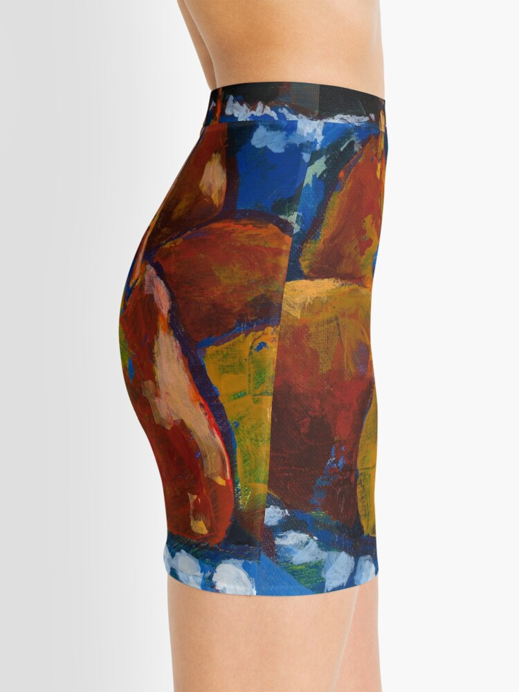 Alternate view of Red Pears in Blue Bowl Mini Skirt