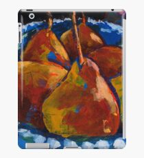 Red Pears in Blue Bowl iPad Case/Skin