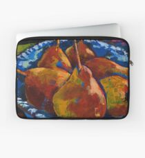 Red Pears in Blue Bowl Laptop Sleeve