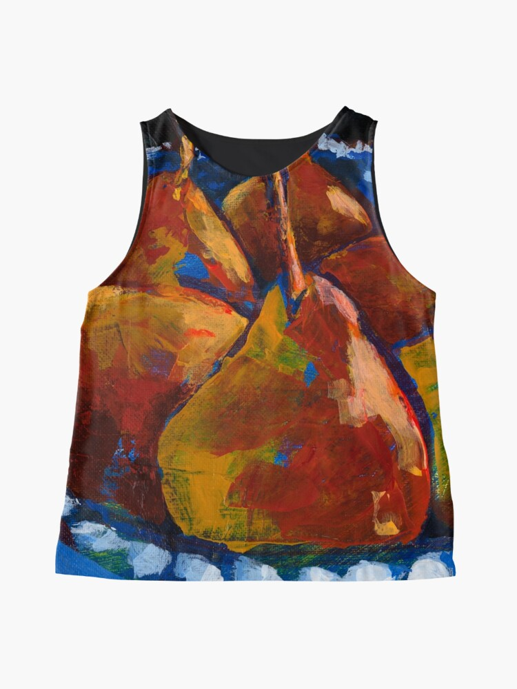 Alternate view of Red Pears in Blue Bowl Sleeveless Top