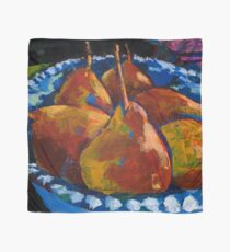 Red Pears in Blue Bowl Scarf