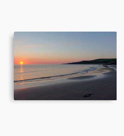 Sunset at Killantringan Bay Canvas Print