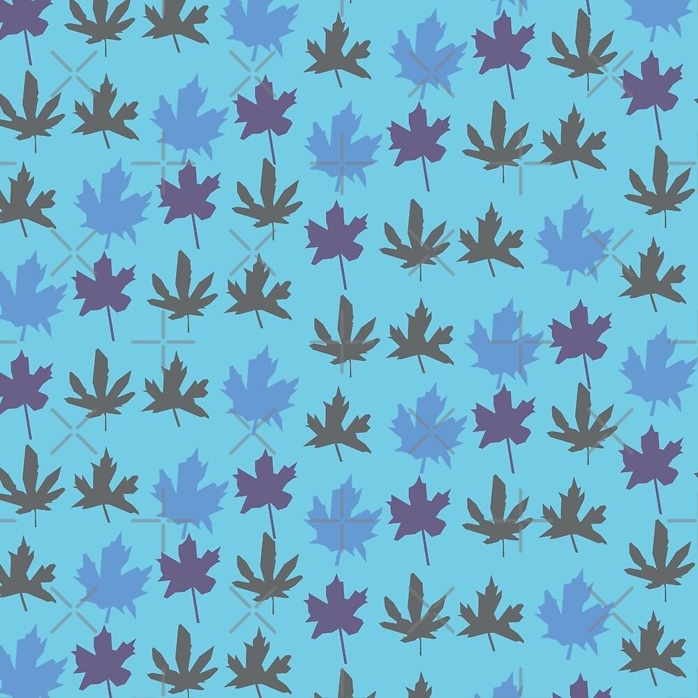 Paper maple - Blue by enlarsen