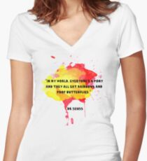 Funny Quote Women's Fitted V-Neck T-Shirt