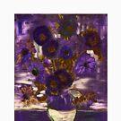 Homage to Vincent - Purple by Kathrina Shine by Kathrina Shine