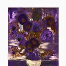 Homage to Vincent - Purple by Kathrina Shine by Kathrina Shine