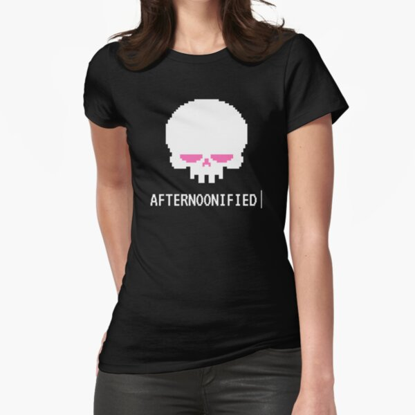 Afternoonified Skull Logo Fitted T-Shirt