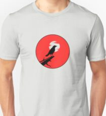 The Crow (red sky transparent moon) Unisex T-Shirt