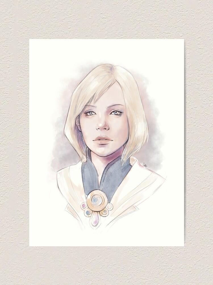 Alternate view of Princess Ashe Art Print