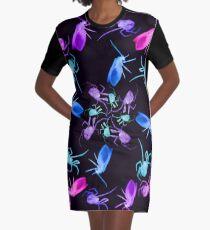 Spider Moth Flower 1 Graphic T-Shirt Dress