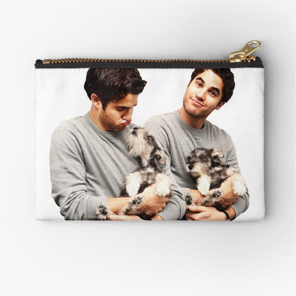 Darren Criss holding a puppy Zipper Pouch
