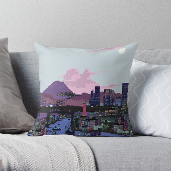 Carbon Valley Skyline Throw Pillow