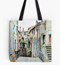 Alley of the historic center Tote Bag