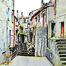 Alley of the historic center by Giuseppe Cocco