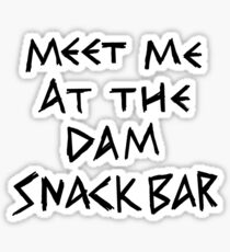 The Dam Snack Bar Sticker