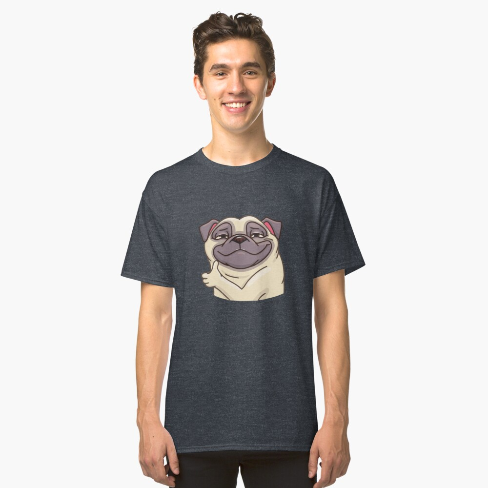 ★ Puppy    Pug Classic T-Shirt Front