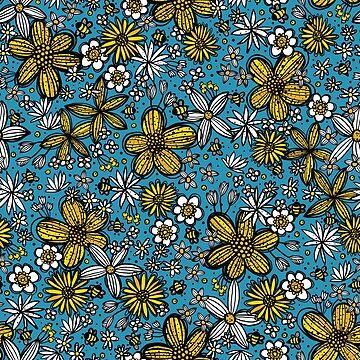 Abejas y flores de robyriker