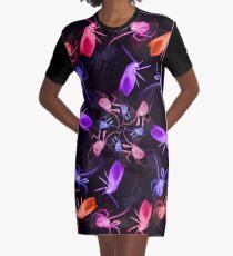 Spider Moth Flower 2 Graphic T-Shirt Dress