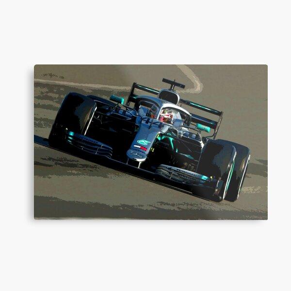 Lewis Hamilton in his 2019 Formula 1 car Metal Print