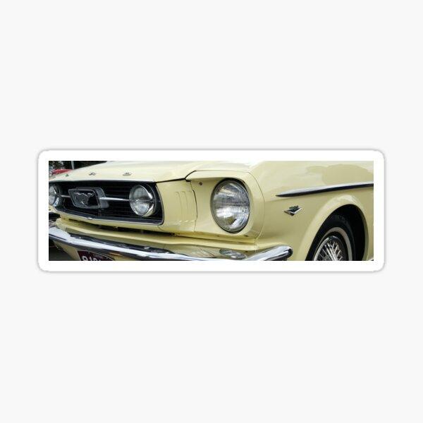 Yellow Mustang Sticker