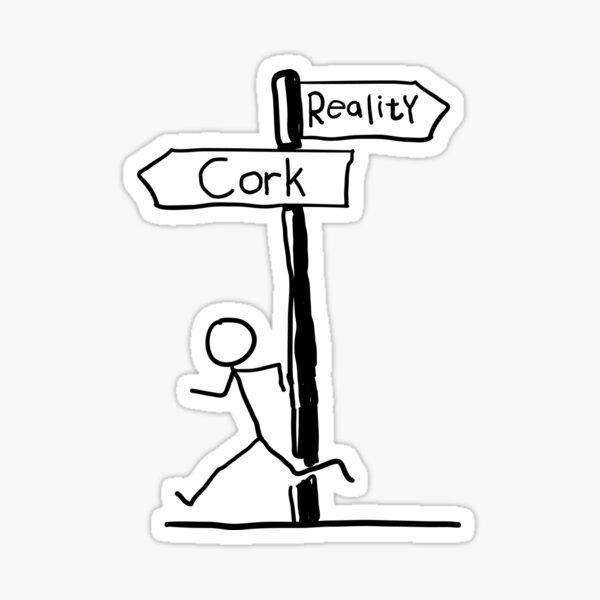 Cork Reality Sticker