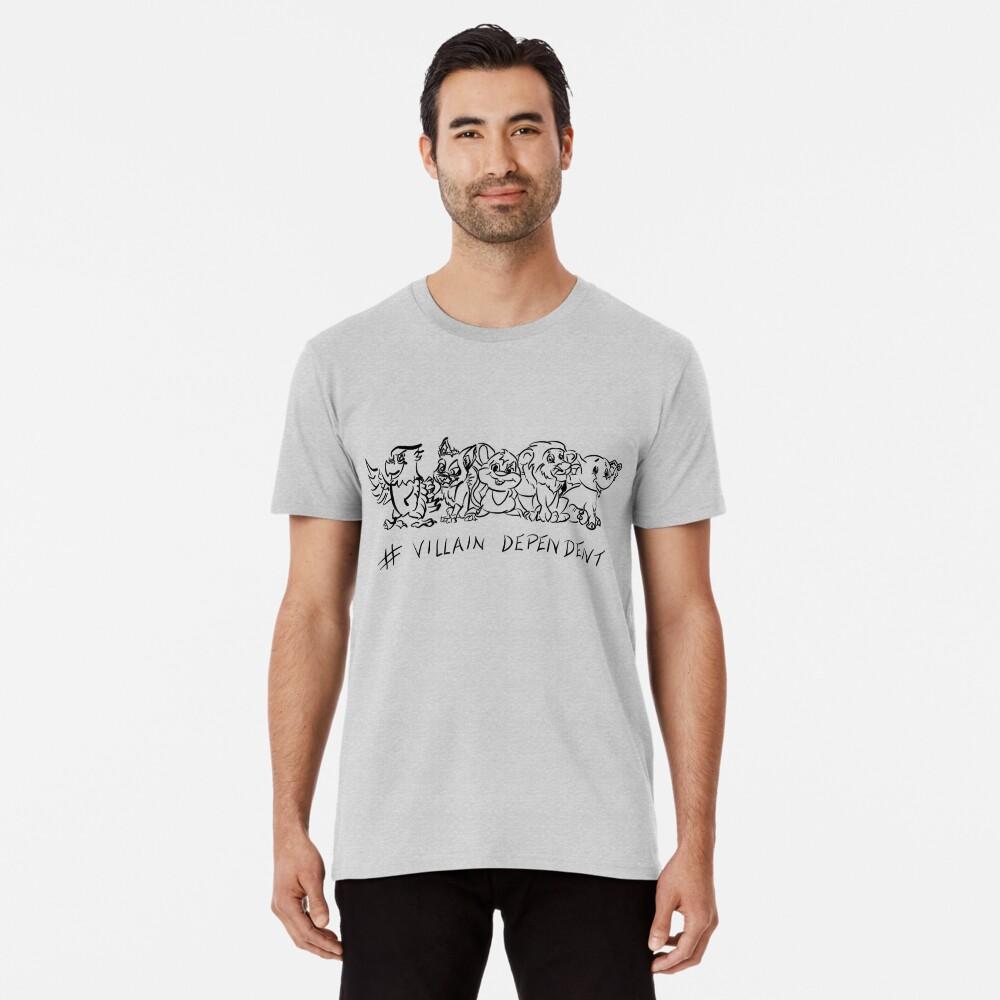Villain Dependent Poker WHT Premium T-Shirt