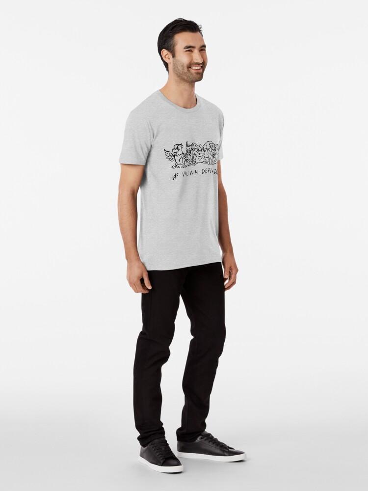 Alternate view of Villain Dependent Poker WHT Premium T-Shirt