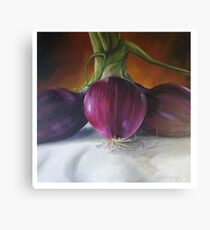 Red Onions Canvas Print