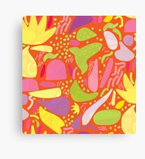 Colorful tropical shapes Canvas Print