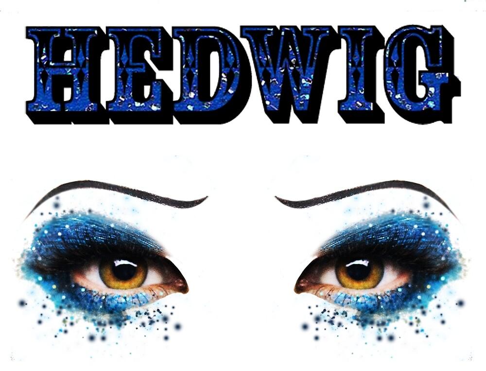 Darren Criss Hedwig Eyes Glitter Blue Flat Text by LadiesInDark