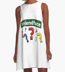 Friendface Question Marks A-Line Dress