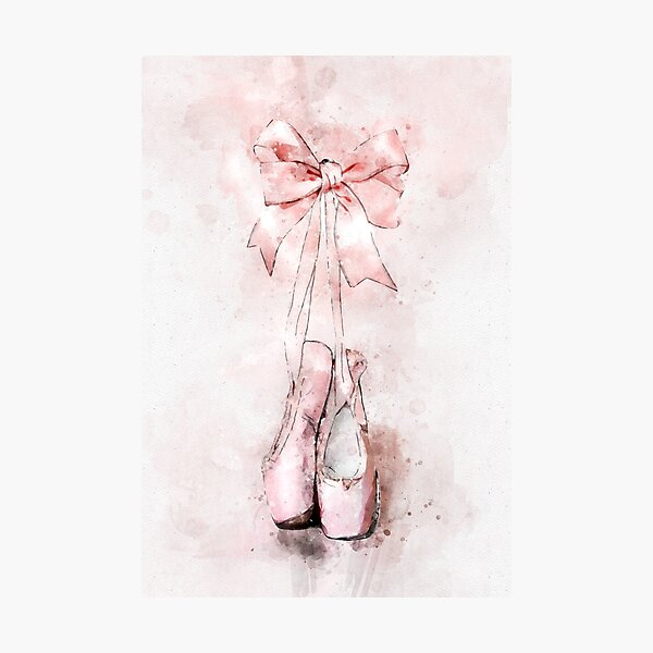 Ballet pointe slippers Photographic Print