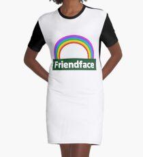 Friendface Rainbow Graphic T-Shirt Dress