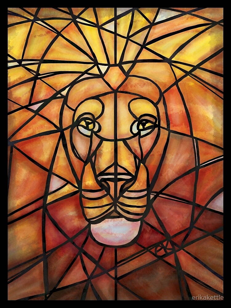 Stained Glass Lion by erikakettle