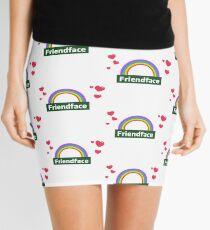Friendface Rainbow Hearts Mini Skirt
