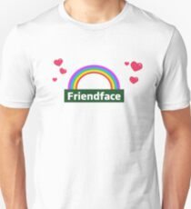 Friendface Rainbow Hearts Unisex T-Shirt