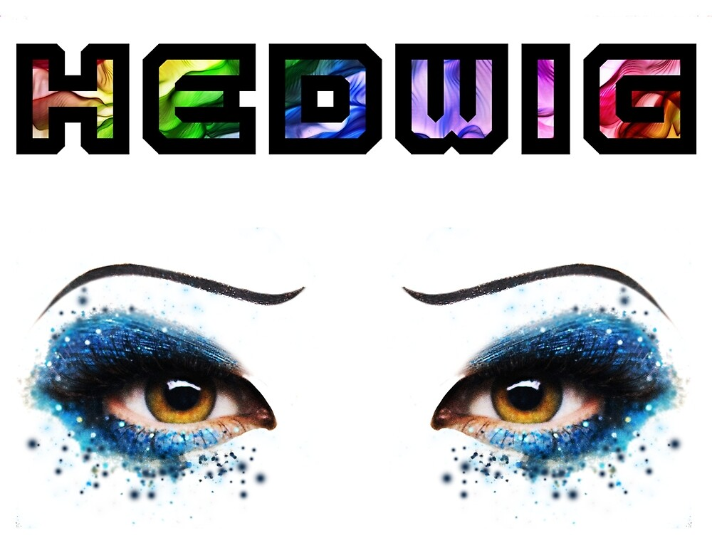 Darren Criss Hedwig Eyes Rainbow Flat Text by LadiesInDark
