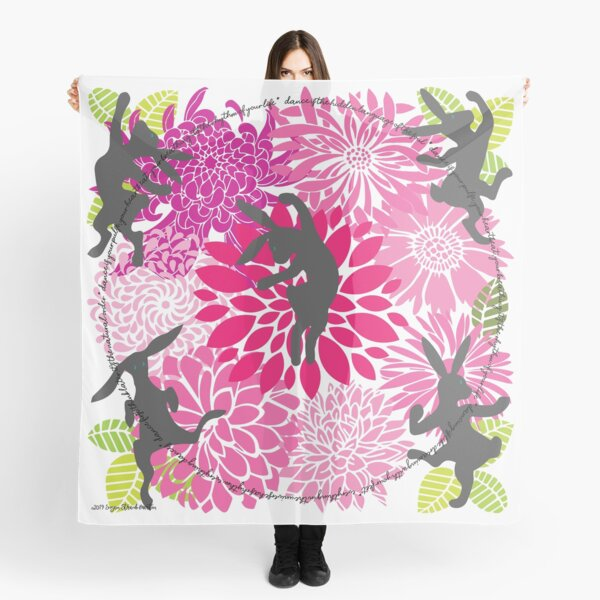Dance into Spring Placement Print Scarf