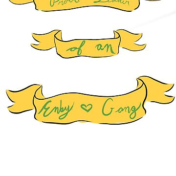 Enby Gang- In Green and Yellow by theirgrace