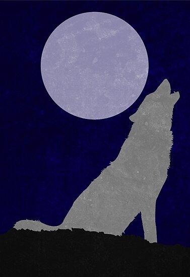 Howling Wolf Minimalist by TheMinimalist