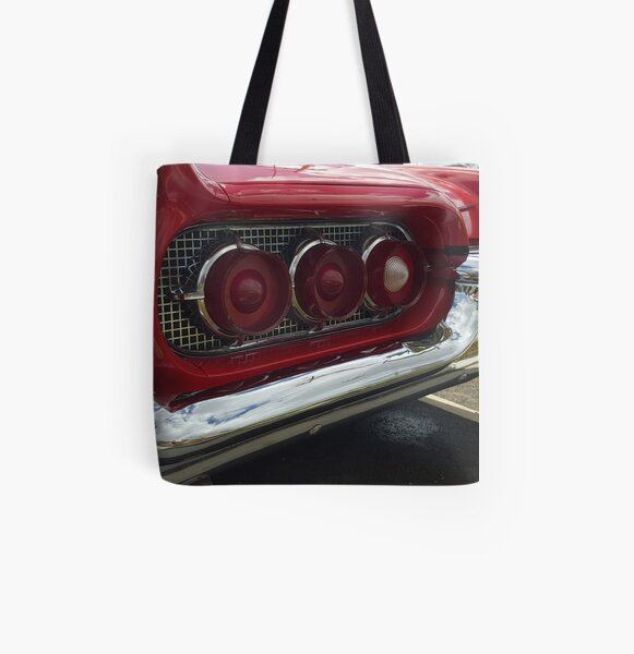 Red Rear All Over Print Tote Bag