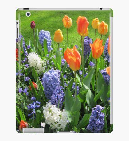Flamme der Farbe - Keukenhof Tulip Collage iPad-Hülle & Klebefolie