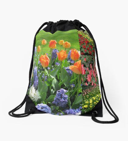 Flamme der Farbe - Keukenhof Tulip Collage Turnbeutel