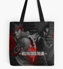 Will You Cross the Line Tote Bag