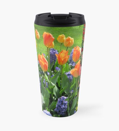 Flamme der Farbe - Keukenhof Tulip Collage Thermosbecher
